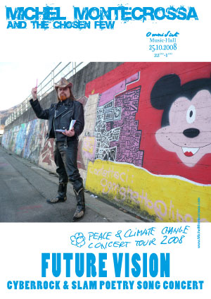 Manifesto del 'Future Vision' Concert con Michel Montecrossa ed il suo gruppo The Chosen Few