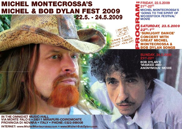 Michel Bob Dylan Fest Poster 2009