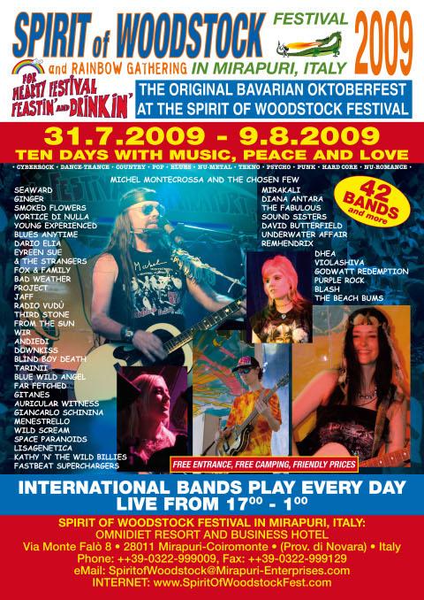 Spirit of Woodstock Festival 2009 - Festival Poster