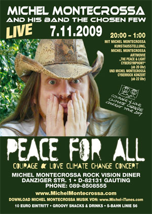 Concert Poster - Michel Montecrossa's 'Peace For All' Concert