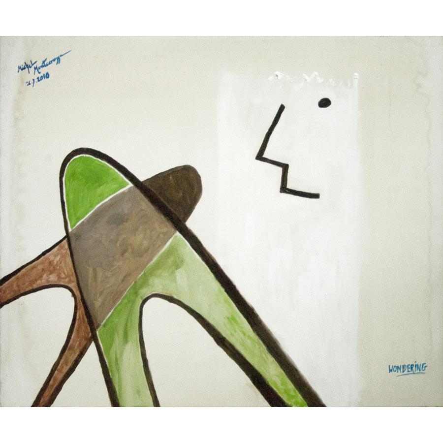 Wondering - painting by Michel Montecrossa
