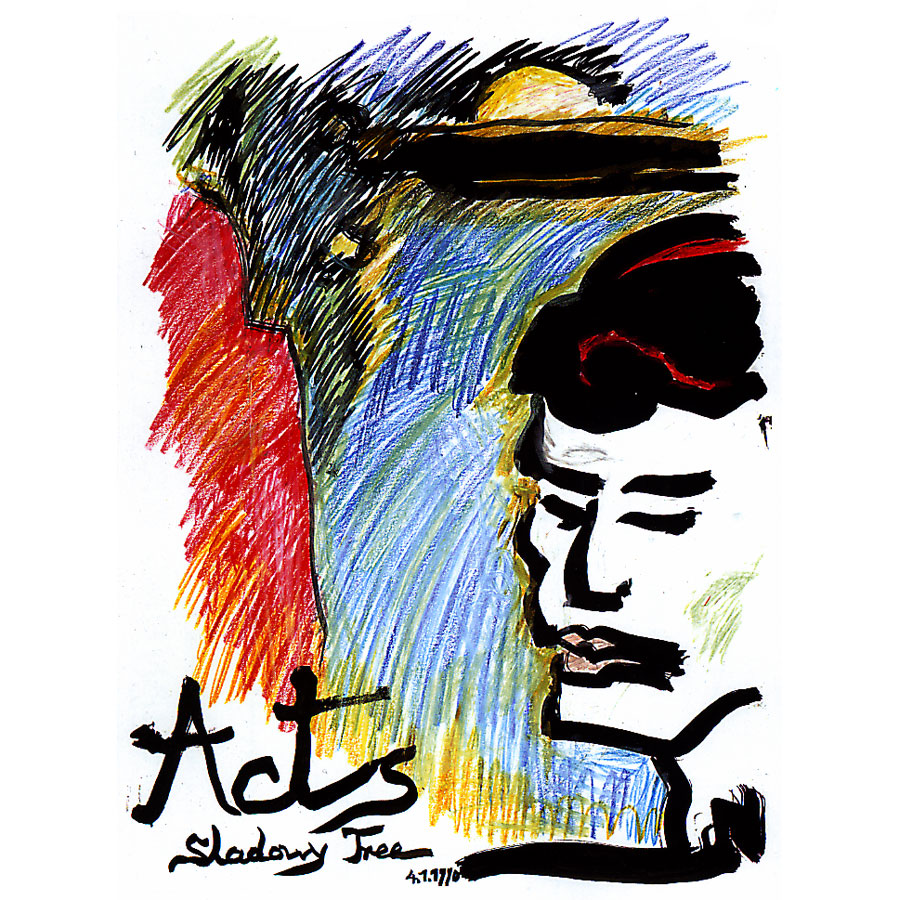 Acts - painting by Michel Montecrossa