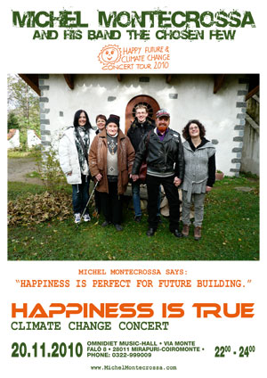 Concert Poster - Michel Montecrossa's Happiness Is True Climate Change Concert