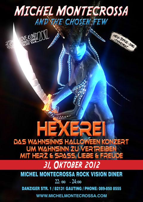 Concert Poster - Michel Montecrossa's 'Hexerei' The Super-Dance-Feeling Halloween Concert