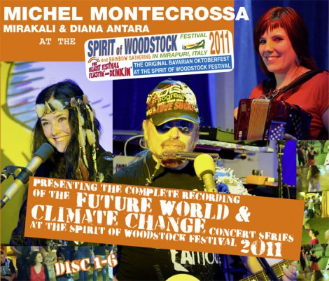 Michel Montecrossa, Mirakali and Diana Antara at the Spirit of Woodstock Festival 2011