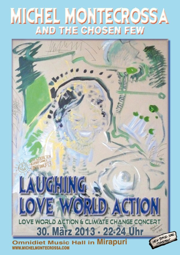Concert Poster - Michel Montecrossa's  'Laughing Love World Action' Concert