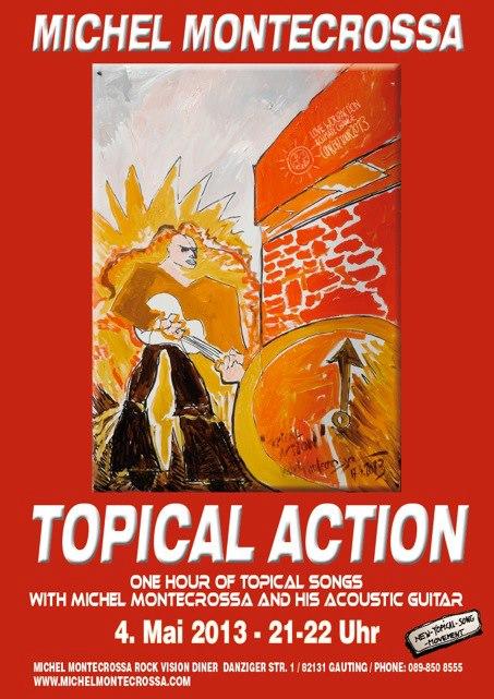 Michel Montecrossa's Topical Action -  Concert Poster