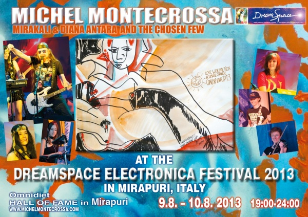 Concert Poster - DreamSpace Electronica Festival 2013