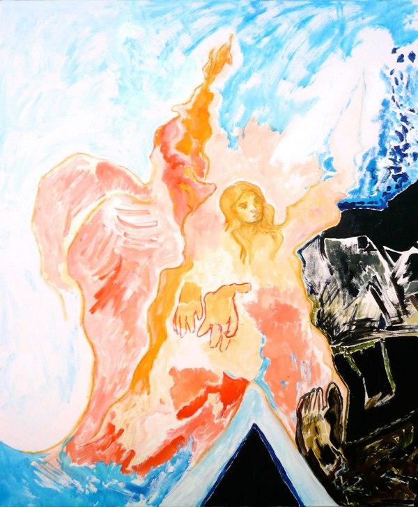 Earth-Story (Segment 1) - Gemälde von Michel Montecrossa