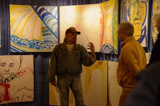 of the Michel Montecrossa 'CREATION' Art Exhibition with 223 New Paintings & Drawings, 6