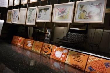 Photo show of the Michel Montecrossa 'CREATION' Art Exhibition, 17
