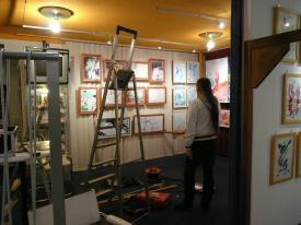 CREATION ART EXHIBITION of Michel Montecrossa paintings and drawings; preparations - picture 14
