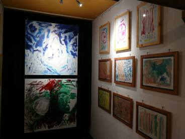 CREATION ART EXHIBITION of Michel Montecrossa paintings and drawings; preparations - picture 2