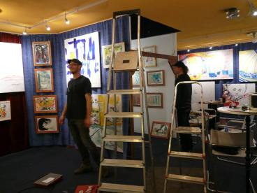 CREATION ART EXHIBITION of Michel Montecrossa paintings and drawings; preparations - picture 6