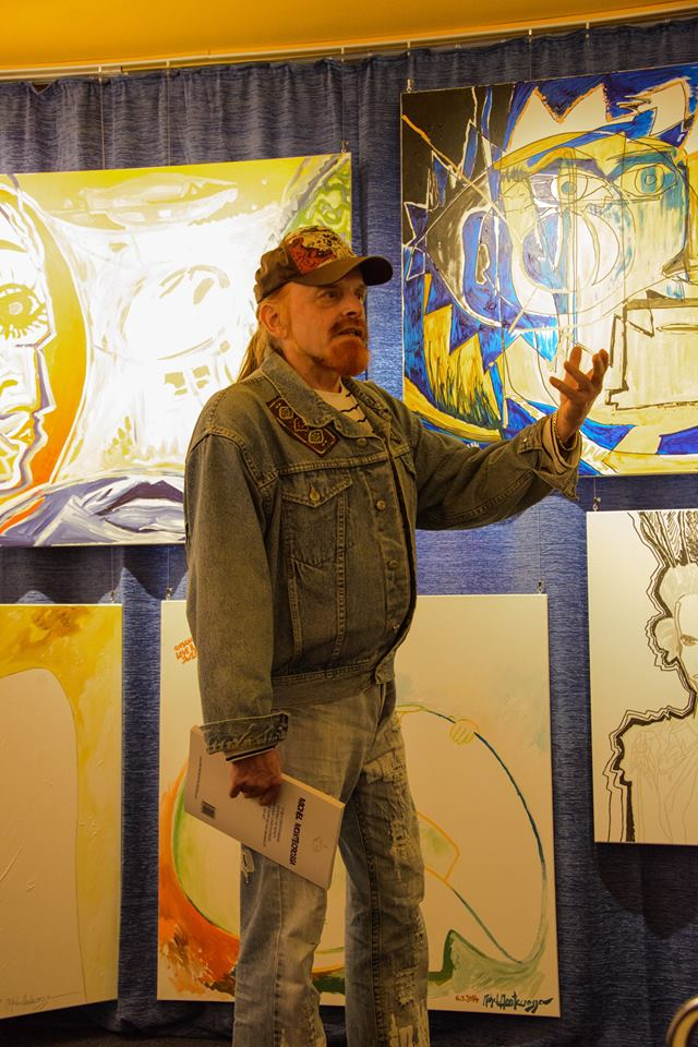 of the Michel Montecrossa 'CREATION' Art Exhibition with 223 New Paintings & Drawings, 4