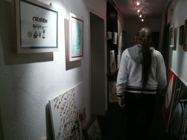 CREATION ART EXHIBITION of Michel Montecrossa paintings and drawings; preparations - picture 5