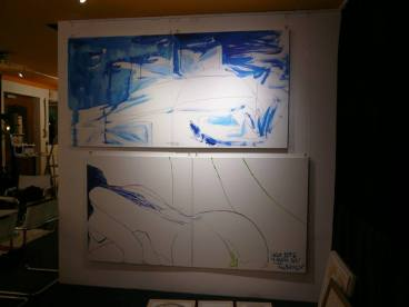 CREATION ART EXHIBITION of Michel Montecrossa paintings and drawings; preparations - picture 12