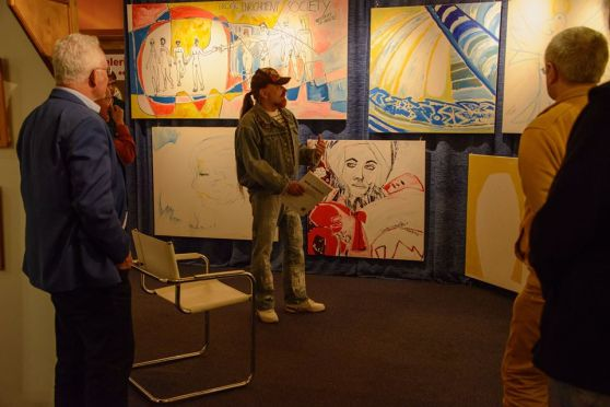 of the Michel Montecrossa 'CREATION' Art Exhibition with 223 New Paintings & Drawings, 12