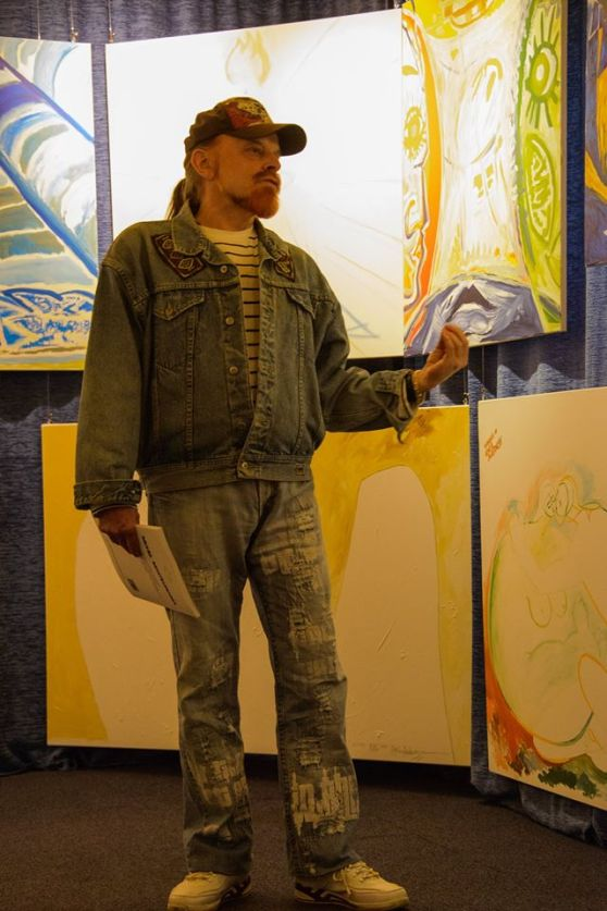 of the Michel Montecrossa 'CREATION' Art Exhibition with 223 New Paintings & Drawings, 11