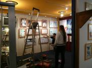 CREATION ART EXHIBITION of Michel Montecrossa paintings and drawings; preparations - picture 1