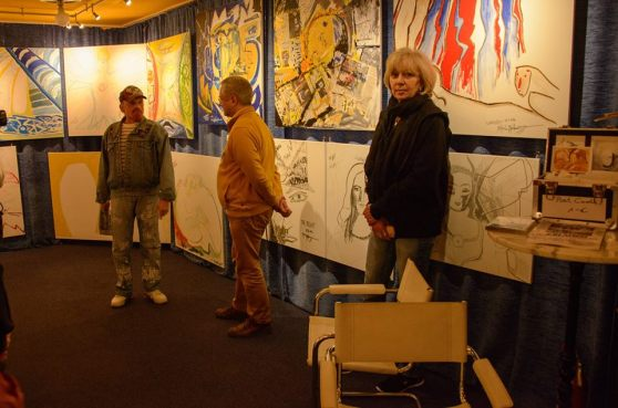 of the Michel Montecrossa 'CREATION' Art Exhibition with 223 New Paintings & Drawings, 8