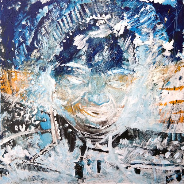 Deep Space Woman - painting by Michel Montecrossa