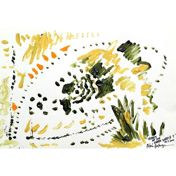 Secrets Of The Green World #1 - painting by Michel Montecrossa