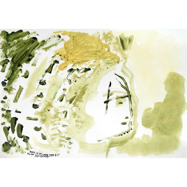 Secrets Of The Green World #3 - painting by Michel Montecrossa