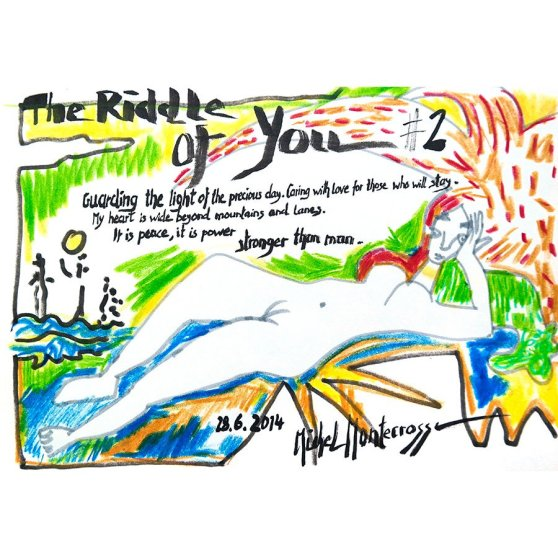 The Riddle Of You #2 - ink painting by Michel Montecrossa