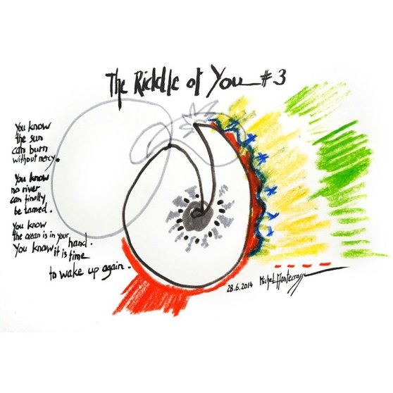 The Riddle Of You #3 - ink painting by Michel Montecrossa