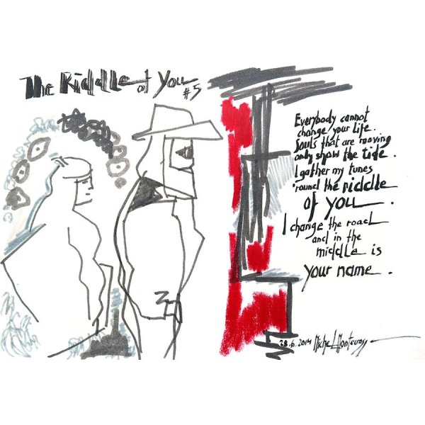 The Riddle Of You #5 - ink painting by Michel Montecrossa