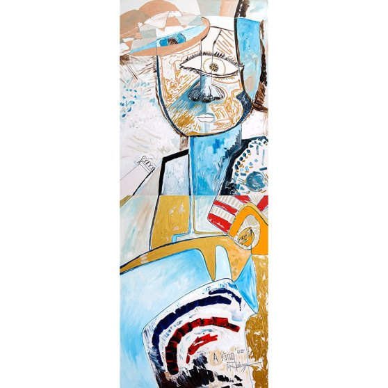A King - acryl painting by Michel Montecrossa
