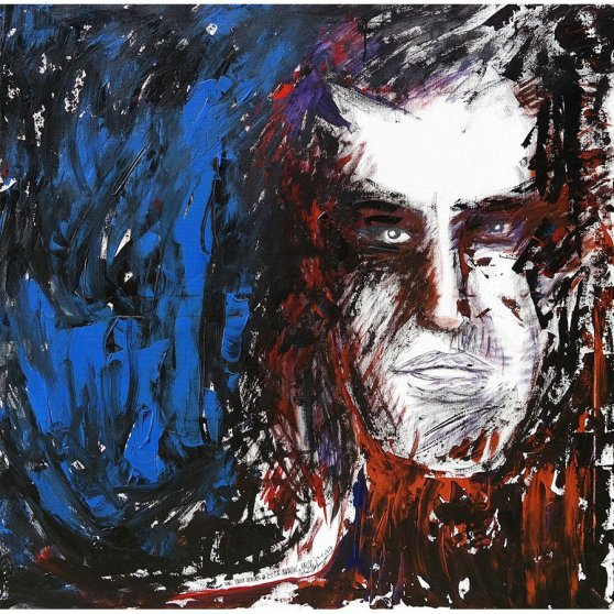 The Faust Series #2: 'Anarchic Faust' - acryl painting by Michel Montecrossa