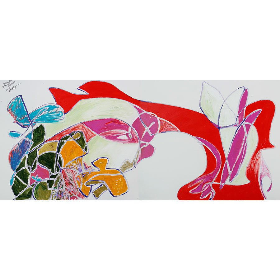 'Arnika's Bright Earth Downloaded' - Painting by Michel Montecrossa
