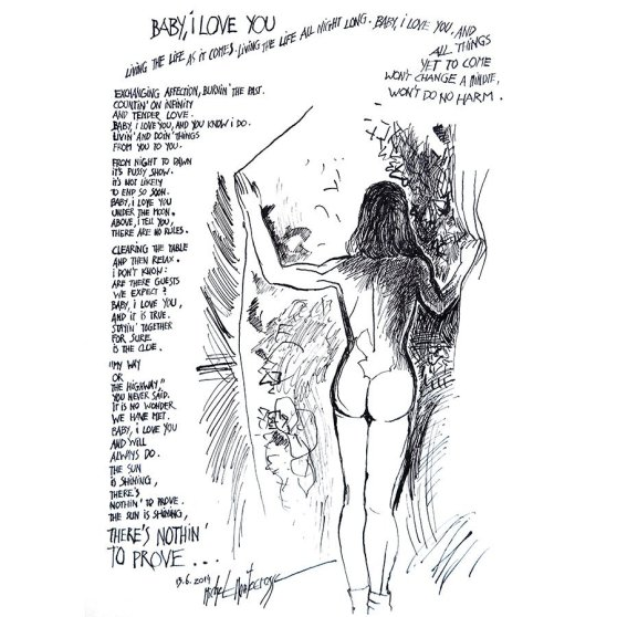 Baby, I Love You - drawing by Michel Montecrossa