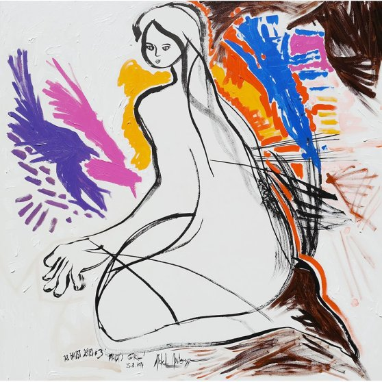 The Faust Series #3 'Faust's Girl' - acryl painting by Michel Montecrossa