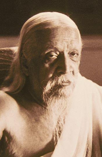 Sri Aurobindo Close Up Portrait