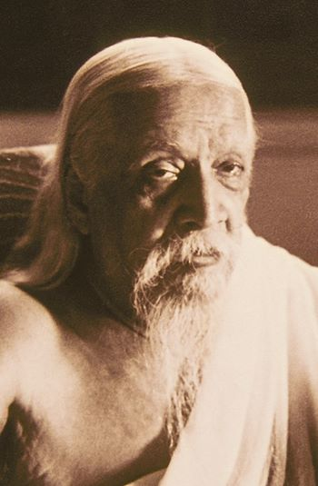 Sri Aurobindo Close Up Portrait