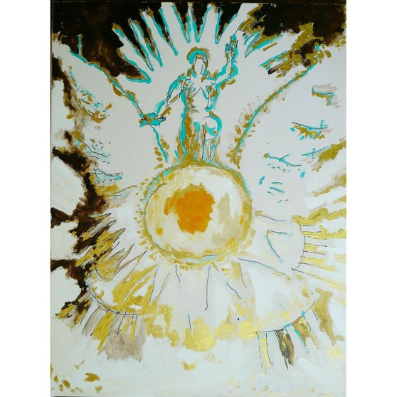 Victory Of The Bright Earth - painting by Michel Montecrossa