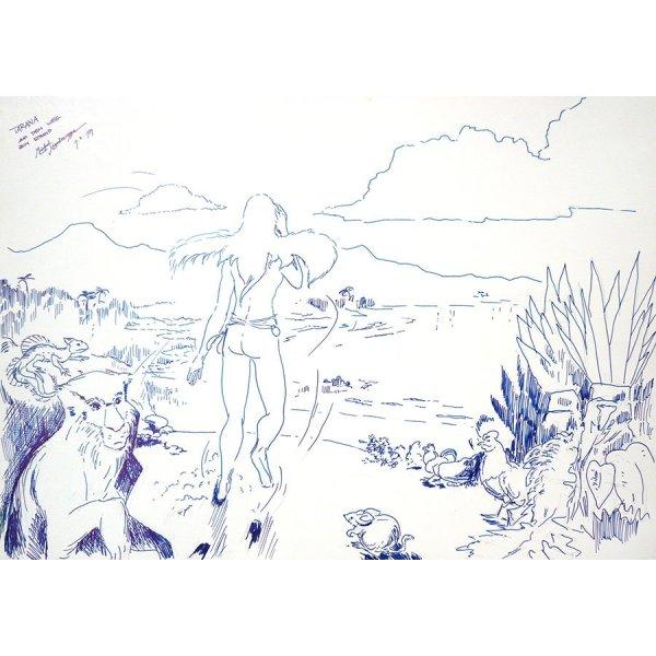 Tarana On The Beach - Fine Art by Michel Montecrossa