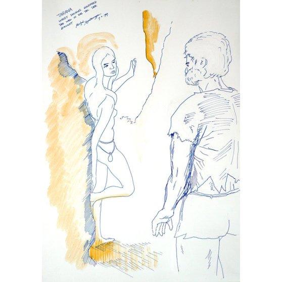 Tarana weist Douglas Goldfield den Weg in das Tal der Zukunft - Fine Art by Michel Montecrossa