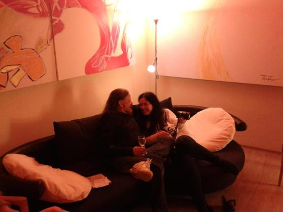 Miravillage being together for enjoying talking about 'Mirapuri and the young - Mirapuri und die Jugend'; Image 1