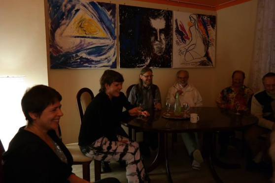 Miravillage being together for enjoying talking about 'Mirapuri and the young - Mirapuri und die Jugend'; Image 6