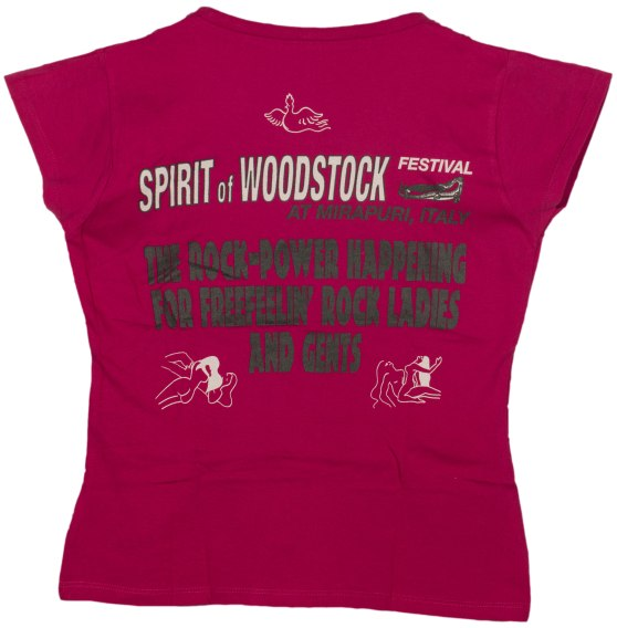 Women T-Shirt: legendary Spirit of Woodstock Festival in Mirapuri T-Shirt (back view)