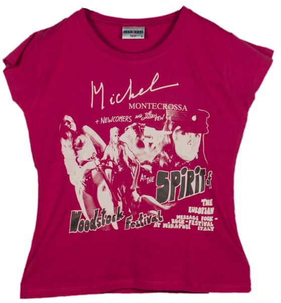 Women T-Shirt: legendary Spirit of Woodstock Festival in Mirapuri T-Shirt (front view)