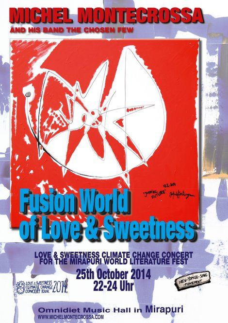 Concert Poster: Michel Montecrossa's 'Fusion World Of Love & Sweetness' Concert