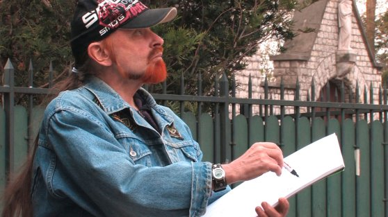 Michel Montecrossa - the painter at work in Paris 1