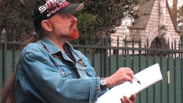 Michel Montecrossa - the painter at work in Paris 1