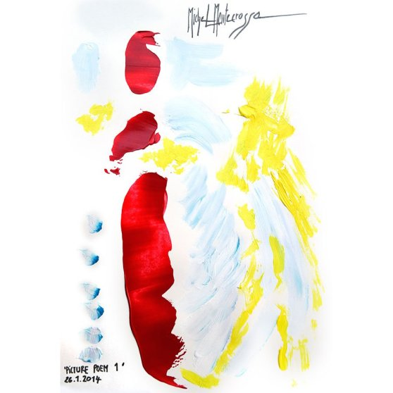 'Picture Poem 1' - painting by Michel Montecrossa