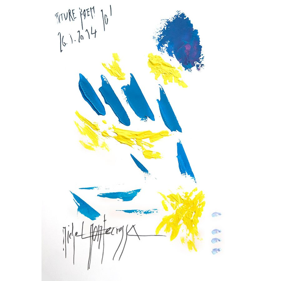 'Picture Poem 10' - painting by Michel Montecrossa
